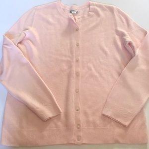 Pink Cardigan sweater XL